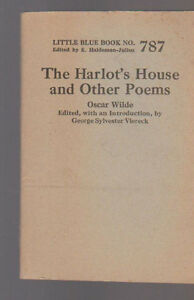 Details About The Harlots House And Other Poems By Oscar Wilde Little Blue Book 787 1925