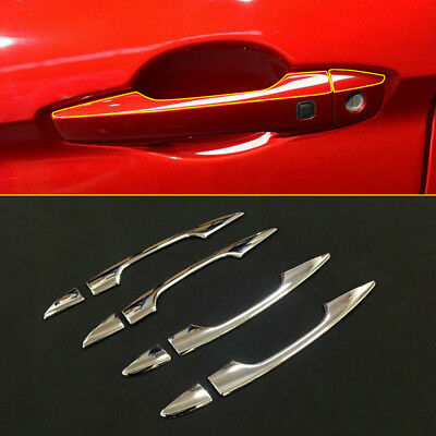 ABS Chrome Side Door Handle Cover Trim 8pcs For Mitsubishi Eclipse Cross 2018