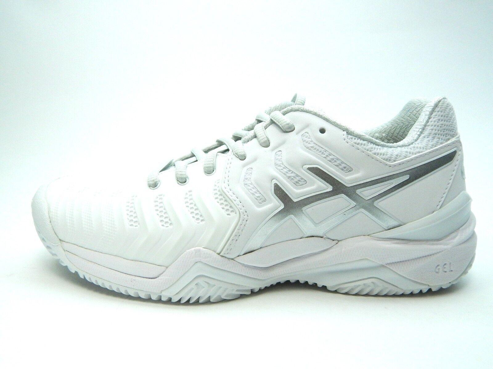 Ascis zapatos resolución 7 Clay E752Y 0193 Blanco Plata Mujeres zapatos Ascis 2fa73a