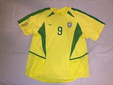 "2002 WC Brazil Home SS Dual Layer Player Jersey No.9 ""Ronaldo"" (Made in Brazil)"