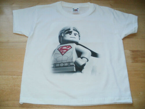 Lego DC Comics Super Heroes /'Superman/' Childs T-Shirt Sizes 1-15 Yrs