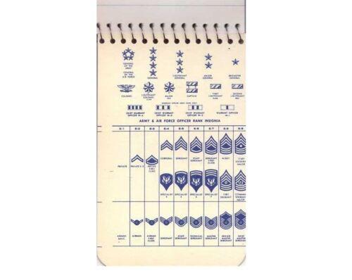Vietnam War Era Airman's Notebook 3x5