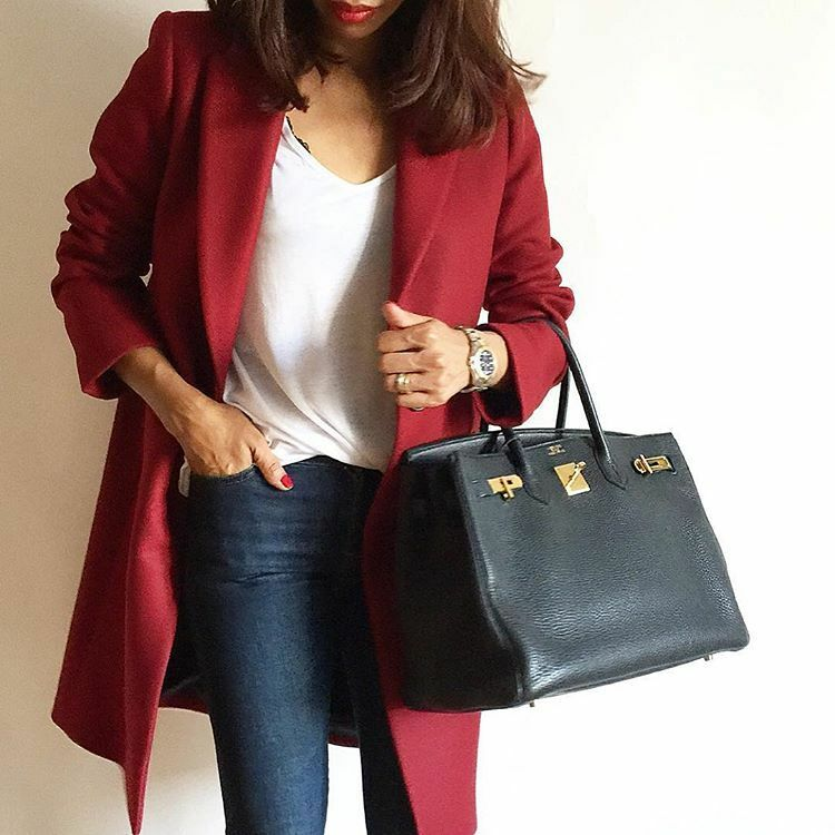 Zara Burgundy Red Masculine Wool Coat New Bloggers Sold Out 7949 744 M L
