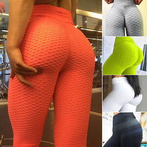 Womens-PUSH-UP-Yoga-Leggings-Pants-Fitness-High-Waist-Sport-Gym-Scrunch-Trousers