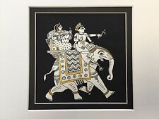 Original Indian Miniature Painting 'Camel Ride' Rajput Handmade Folk Art