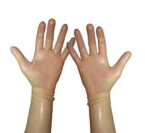 Color gloves latex natural