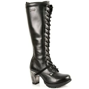 Style Rock New Gothic Boots Nero Tr005 Stivali Donna Punk S1 YdZSSq