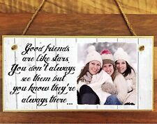 """11x4/""""Personalised Wooden Family Photo Block Sign  Nanny Wedding Mother Gift"""