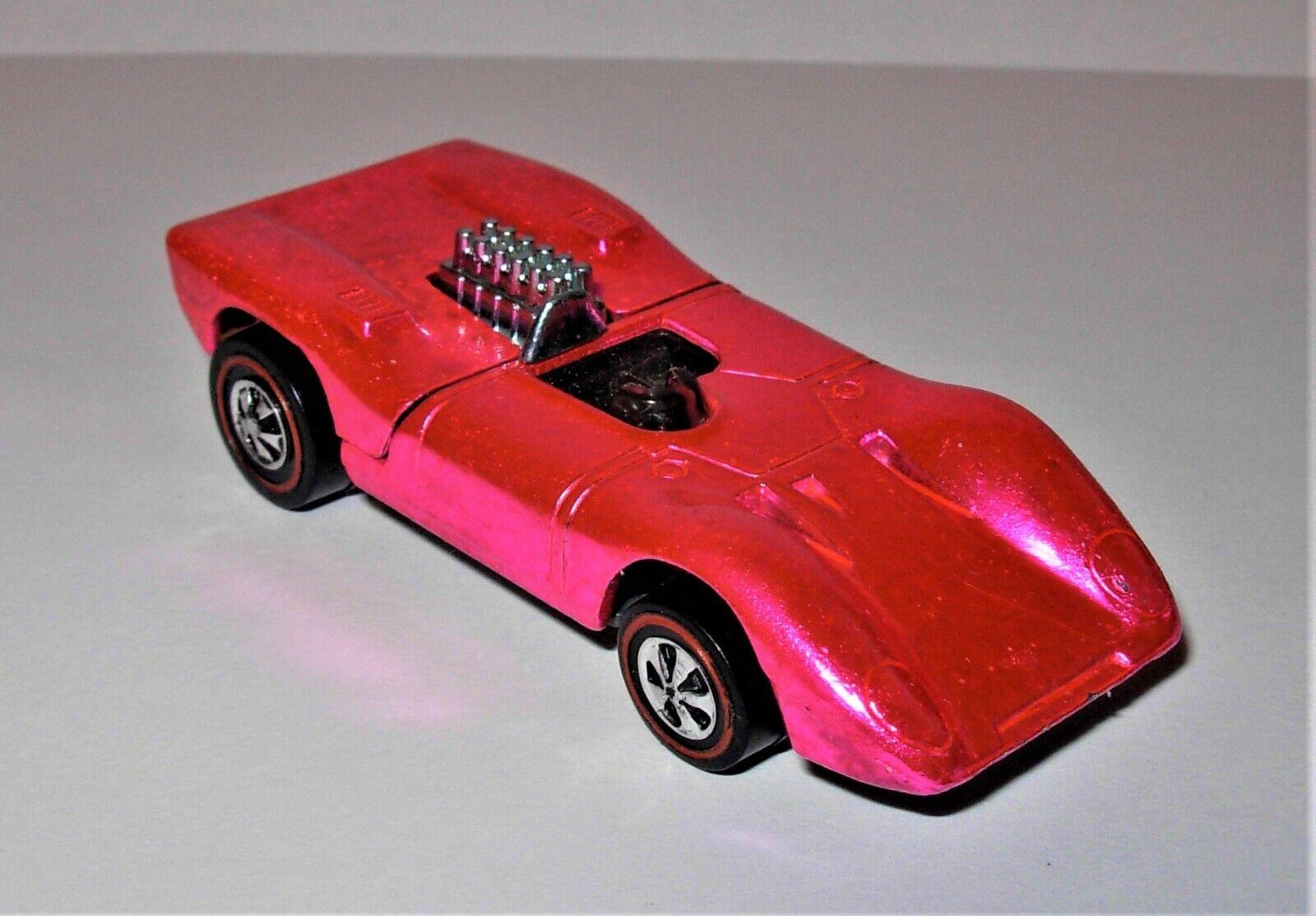 Nucléaire Hot wheels rougeline  FERRARI 312P  Blazing Rose Chaud USA