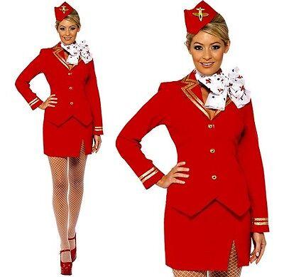Ladies Flight Attendant Air Stewardess Cabin Crew Fancy Dress Costume by Smiffys
