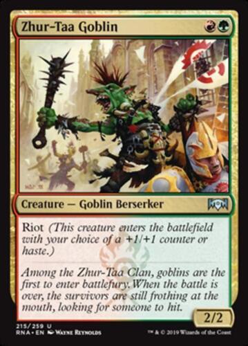 NM//M Ravnica Allegiance U 4x Zhur-Taa Goblin x4 MTG Magic -
