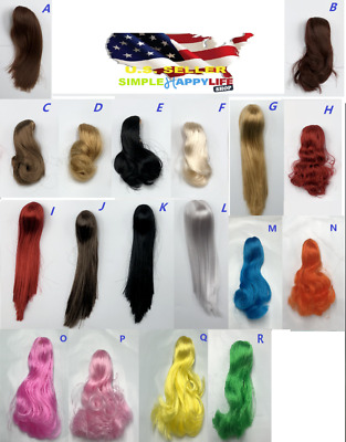 """1//6 Scale Woman Hair Wig 3.0 NEW Multi Colors For 12/"""" Female Head Sculpt ❶USA❶"""