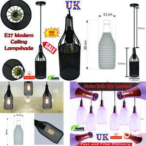 MODERN-CEILING-PENDANT-LIGHT-VINTAGE-LAMP-SHADE-CHANDELIER-CRYSTAL-DROP-UK
