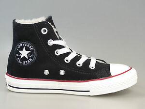 Converse-Kids-Ct-Shearling-Hi-Nero-Egret-641055c-pelle-pelliccia-Nuovo-Tutte-Le-Taglie