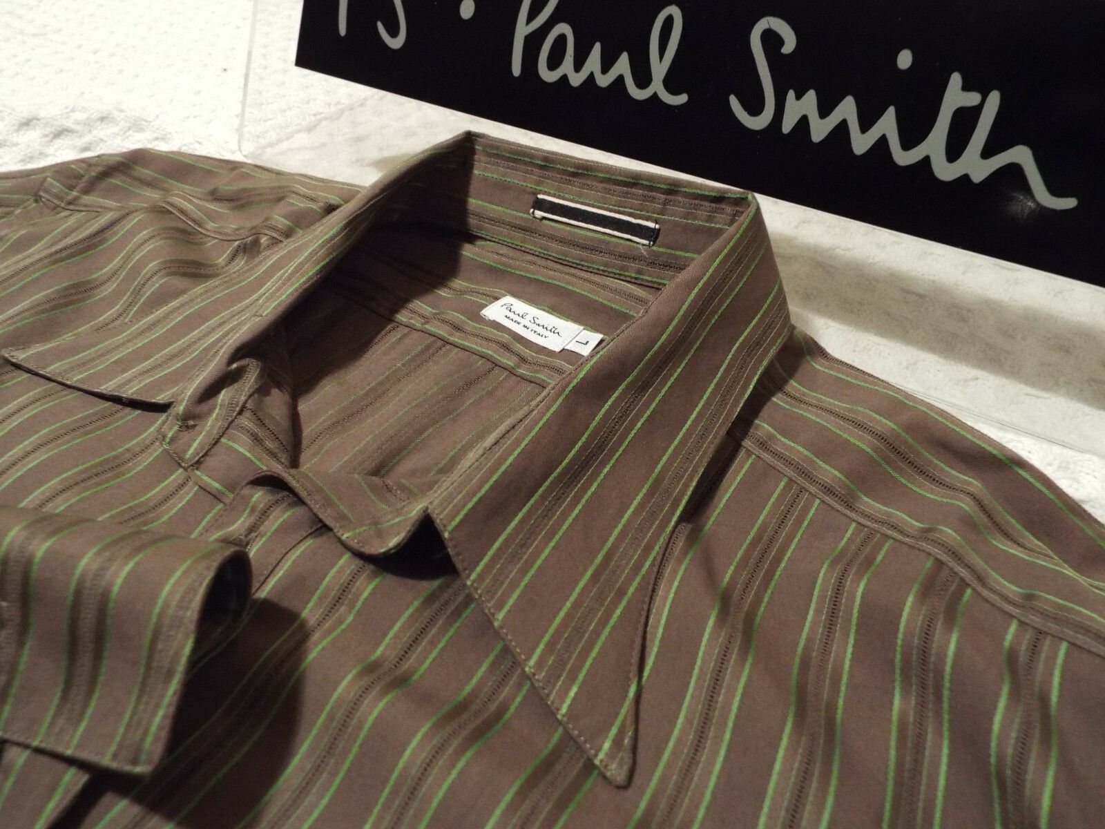 PAUL SMITH Mens MAINLINE Shirt  Size L (CHEST 40 )RRP + AERATED STRIPE