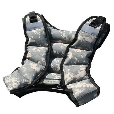 New 12LB Weighted Camo Workout Unisex Weight Vest Training Fitness-CROSS101