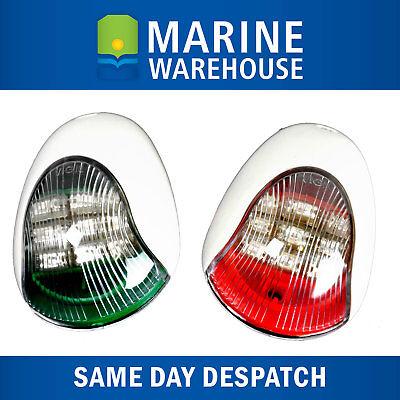 USCG LED NAVIGATION LIGHTS WHITE HOUSINGS Port//Starboard Marine Boat Nav BLW