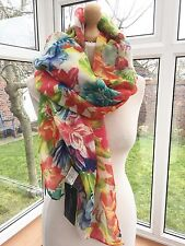 Zara  Very Rare Large Multi Colour Floral Scarf BNWT