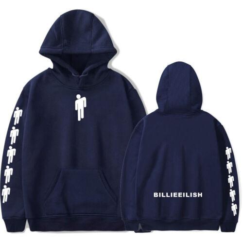 Billie Eilish Hoodie Print Printed Sweatshirt Cartoon Pattern Cotton Pullover mg