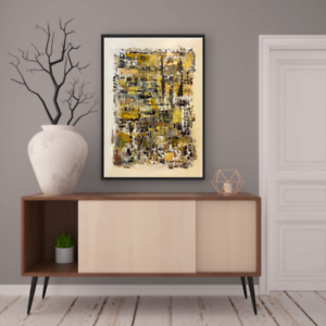 Original abstract expressionism painting 23X31 thick canvas contemporary modern.