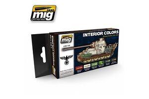 AMMO-OF-MIG-A-MIG-7108-Acrylic-Paint-Set-6-jars-Interior-Colors-German-Tanks