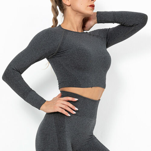 Women Camo Seamless Yoga Suit Crop Tops Bra Yoga Leggings Pants Workout Outfit
