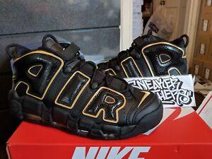 le dernier 54863 7b2fa Details about Nike Air More Uptempo '96 QS Euro City France Paris Black  Gold AV3810-001