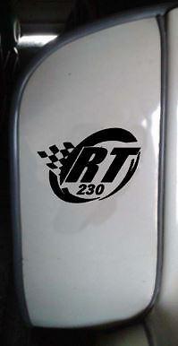Lambretta Sticker RT230 Sticker SX GP TV LI Scooter Sticker Matt BLACK