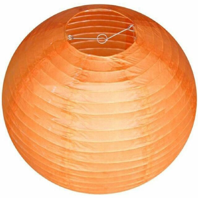 Orange Chinese Paper Hanging Lantern for any Wedding & party Decoration-8inches