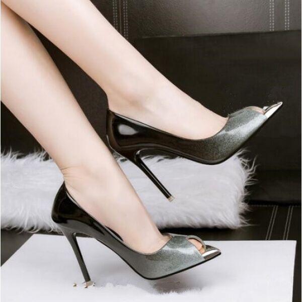 Decolte sandali donna eleganti CW048 grigio sfumato 10 cm stiletto simil pelle CW048 eleganti c37bbb