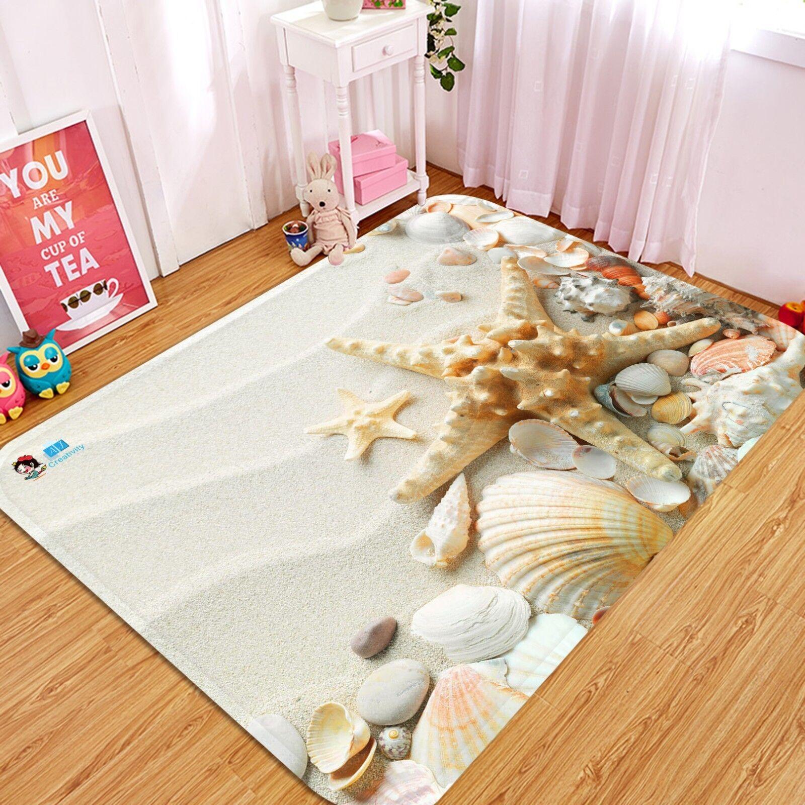 3D Beach Treasures 021 Non Slip Rug Mat Room Mat Quality Elegant Photo Carpet AU
