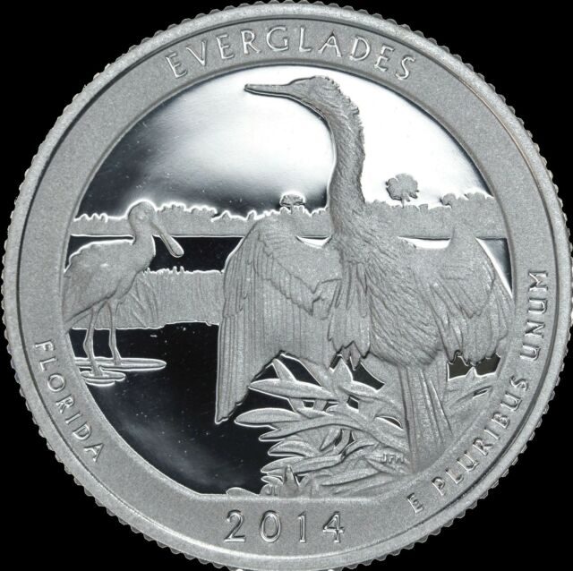 2014 S Florida Quarter ATB Everglades National Park Gem PROOF Deep Cameo Coin