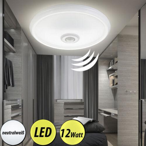 LED Decken Leuchten Schlaf Zimmer Strahler Bewegungsmelder ALU Bad Lampen weiß