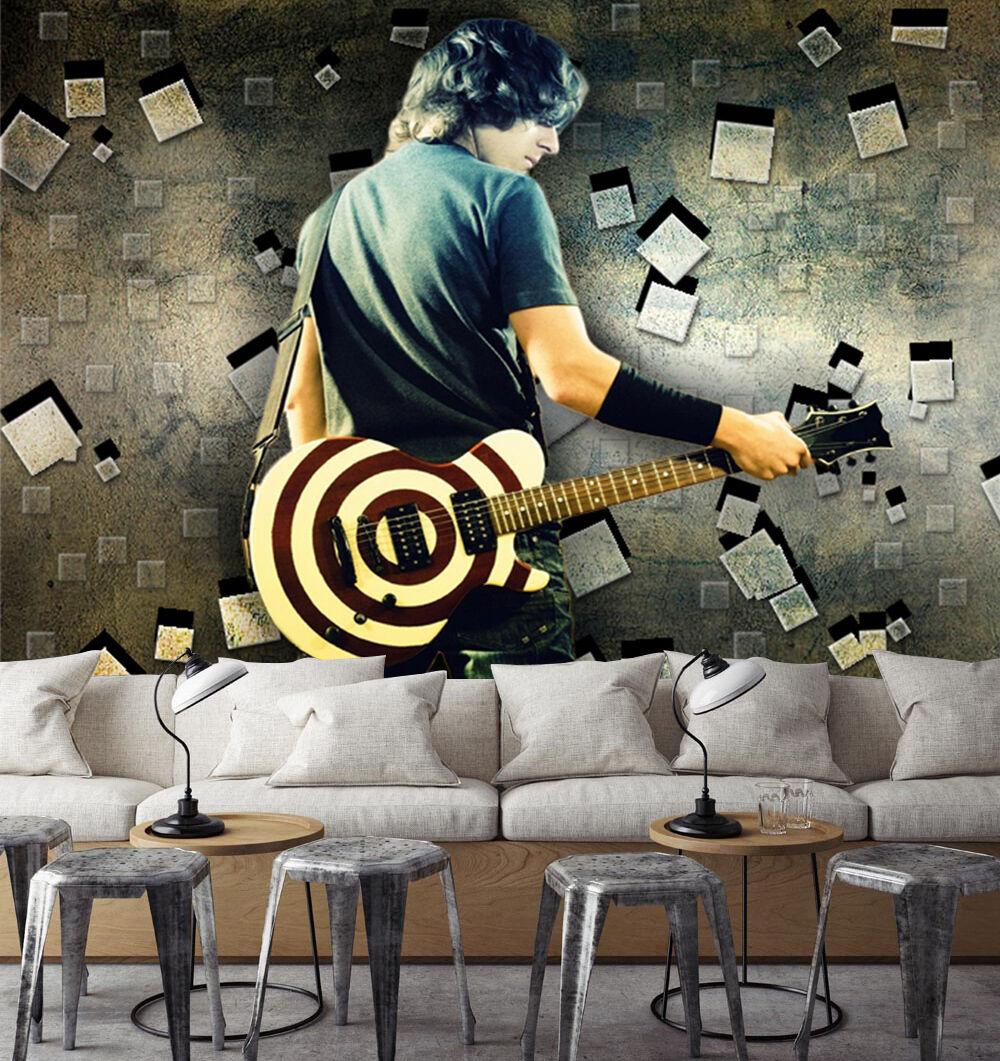 3D musica 255 Parete Murale Foto Carta da parati immagine sfondo muro stampa
