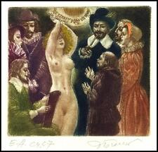 David Bekker Exlibris C4 Erotic Erotik Nude Nudo Woman 118