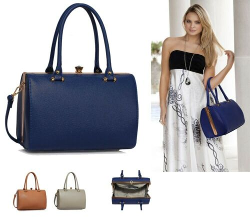 Ladies Designer Handbags Womens Fashion Faux Leather Satchel Shoulder Bags New