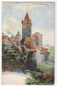 luginsland nurnberg germany art artist signed franz schmidt 1910c postcard ebay. Black Bedroom Furniture Sets. Home Design Ideas