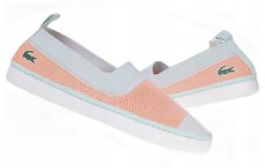 new product 64e5c a2c64 Details zu Lacoste L.ydro 118 NEU Slip On Ballerina Damen Blau Orange Coral  Sommer Lydro