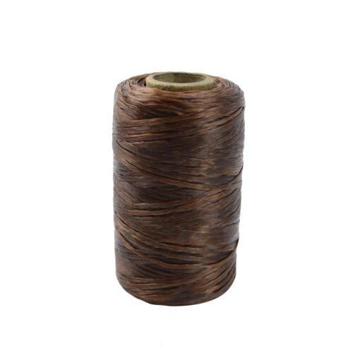 1 Single Spool Brown Sinew Waxed Beading Craft Poly Thread Artificial Wax Sinue