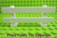New LEGO White Horse Rail FENCE 1x8x2 Farm Animal Ranch Part Pieces