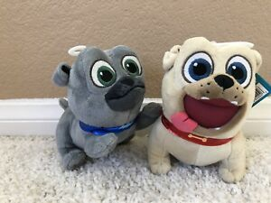 2 Disney Junior Puppy Dog Pals Stuffed Toy Plush 6 Bingo Rolly