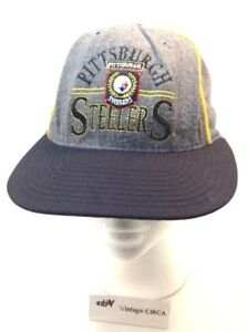 VTG THE GAME Pittsburgh Steelers NFL Snapback Hat Ball Cap - Wool ... 7d7d656a6