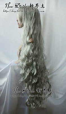 683 New Long Silver MIX Gray Cosplay Party Wigs 100cm