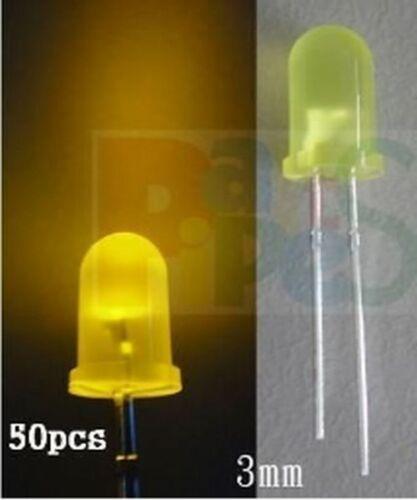 50pcs 3mm Diffused YELLOW Flashing Blink 3V-12V Led,YYF3  ling