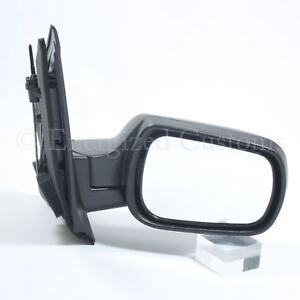 Ford Fiesta MK6 2002-2005 Manual Black Wing Door Mirror Drivers Side Right 715547102260