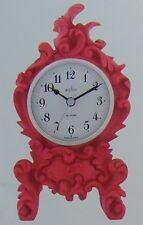 acctim rose pink baroque style mantel clock 33600