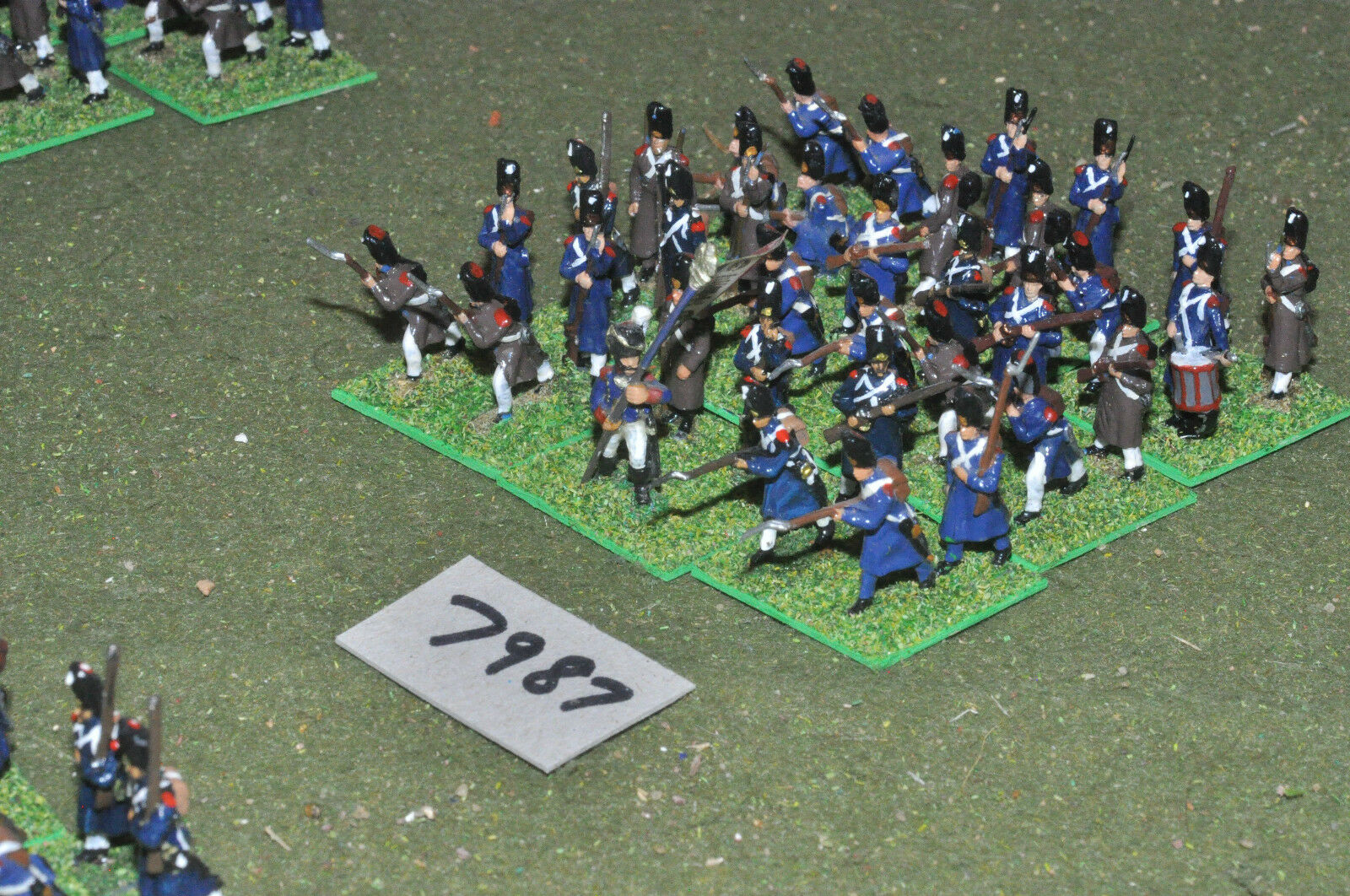 20mm napoleonic   french - old guard 35 figs painted plastic - inf (7987)