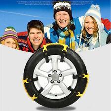 2Pcs Adjustable Car Tire Snow Chains Emergency Anti Slip Chain For Van Car SUV