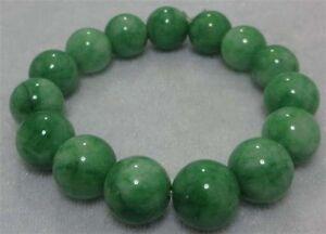 12-mm-BELLA-NATURA-verde-Jade-Jadeite-Braccialetto-Mano-Verde-CATENARIA-AA-J27