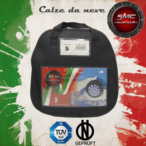 CALZE DA NEVE OMOLOGATE SMC PER PNEUMATICI 185//60 R 14 TAGLIA S